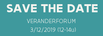 Save the date veranderforum 3 december 2019