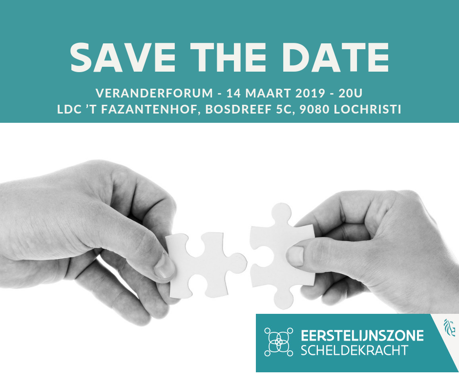 Save the date veranderforum 14 maart 2019